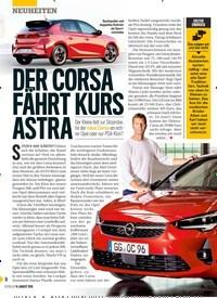 Titelbild der Ausgabe 33/2019 von DER CORSA FÄHRT KURS ASTRA. Zeitschriften als Abo oder epaper bei United Kiosk online kaufen.