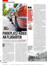Titelbild der Ausgabe 33/2019 von PARKPLATZ-KRIEG AN FLUGHÄFEN. Zeitschriften als Abo oder epaper bei United Kiosk online kaufen.