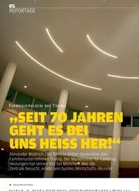 """Titelbild der Ausgabe 8/2019 von Firmenjubiläum bei Truma: """"SEIT 7O JAHREN GEHT ES BEI UNS HEISS HER!"""". Zeitschriften als Abo oder epaper bei United Kiosk online kaufen."""