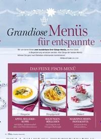 Titelbild der Ausgabe 1/2019 von Grandiose Menüs für entspannte Feiertage. Zeitschriften als Abo oder epaper bei United Kiosk online kaufen.