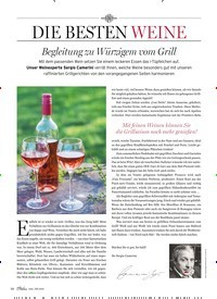 Titelbild der Ausgabe 4/2019 von DIE BESTEN WEINE: Begleitung zu Würzigem vom Grill. Zeitschriften als Abo oder epaper bei United Kiosk online kaufen.