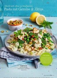 Titelbild der Ausgabe 2/2020 von Macht satt, ohne zu beschweren: Pasta mit Gemüse & Zitrus. Zeitschriften als Abo oder epaper bei United Kiosk online kaufen.