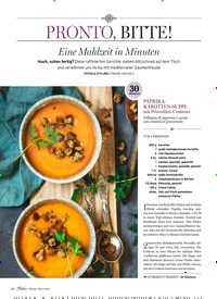 Titelbild der Ausgabe 2/2020 von PRONTO, BITTE!: Eine Mahlzeit in Minuten. Zeitschriften als Abo oder epaper bei United Kiosk online kaufen.