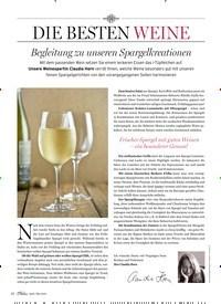 Titelbild der Ausgabe 3/2020 von DIE BESTEN WEINE: Begleitung zu unseren Spargelkreationen. Zeitschriften als Abo oder epaper bei United Kiosk online kaufen.
