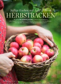 Titelbild der Ausgabe 6/2020 von Saftige Kuchen mit Apfel & Birne: HERBSTBACKEN. Zeitschriften als Abo oder epaper bei United Kiosk online kaufen.