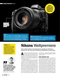Titelbild der Ausgabe 1/2019 von Nikons Weltpremiere. Zeitschriften als Abo oder epaper bei United Kiosk online kaufen.