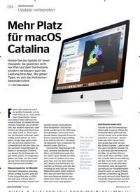 Titelbild der Ausgabe 1/2020 von Update vorbereiten: Mehr Platz für macOS Catalina. Zeitschriften als Abo oder epaper bei United Kiosk online kaufen.