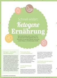 Titelbild der Ausgabe 1/2020 von KETOGENE ERNÄHRUNG: Schnell erklärt: Ketogene Ernährung. Zeitschriften als Abo oder epaper bei United Kiosk online kaufen.