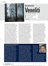 Titelbild der Ausgabe 6/2019 von Oslo Kammerkor: Veneliti. Zeitschriften als Abo oder epaper bei United Kiosk online kaufen.