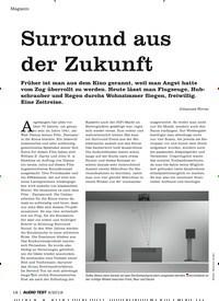Titelbild der Ausgabe 6/2019 von Surround aus der Zukunft. Zeitschriften als Abo oder epaper bei United Kiosk online kaufen.