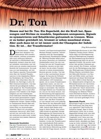 Titelbild der Ausgabe 8/2019 von Dr. Ton. Zeitschriften als Abo oder epaper bei United Kiosk online kaufen.