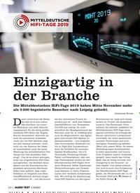 Titelbild der Ausgabe 1/2020 von Einzigartig in der Branche. Zeitschriften als Abo oder epaper bei United Kiosk online kaufen.