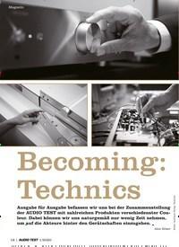 Titelbild der Ausgabe 1/2020 von Becoming: Technics. Zeitschriften als Abo oder epaper bei United Kiosk online kaufen.