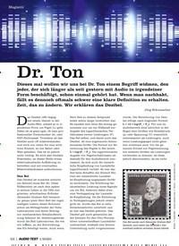 Titelbild der Ausgabe 1/2020 von Dr. Ton. Zeitschriften als Abo oder epaper bei United Kiosk online kaufen.