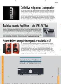 Titelbild der Ausgabe 2/2020 von Technics neueste Kopfhörer – die EAH-AZ70W. Zeitschriften als Abo oder epaper bei United Kiosk online kaufen.