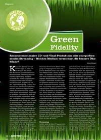 Titelbild der Ausgabe 2/2020 von Green Fidelity. Zeitschriften als Abo oder epaper bei United Kiosk online kaufen.