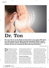 Titelbild der Ausgabe 5/2020 von Dr. Ton. Zeitschriften als Abo oder epaper bei United Kiosk online kaufen.