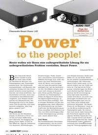 Titelbild der Ausgabe 5/2020 von Test: Clearaudio Smart Power 12V: Power to the people!. Zeitschriften als Abo oder epaper bei United Kiosk online kaufen.