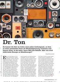 Titelbild der Ausgabe 6/2020 von Dr. Ton. Zeitschriften als Abo oder epaper bei United Kiosk online kaufen.