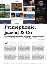 Titelbild der Ausgabe 8/2020 von Primephonic, jazzed & Co. Zeitschriften als Abo oder epaper bei United Kiosk online kaufen.