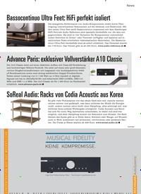Titelbild der Ausgabe 1/2021 von News: SoReal Audio: Racks von Codia Acoustic aus Korea. Zeitschriften als Abo oder epaper bei United Kiosk online kaufen.