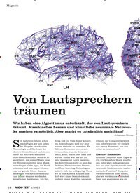 Titelbild der Ausgabe 1/2021 von Von Lautsprechern träumen. Zeitschriften als Abo oder epaper bei United Kiosk online kaufen.