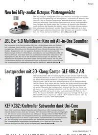 Titelbild der Ausgabe 2/2021 von News: Lautsprecher mit 3D-Klang: Canton GLE 496.2 AR. Zeitschriften als Abo oder epaper bei United Kiosk online kaufen.