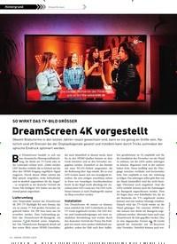 Titelbild der Ausgabe 3/2019 von DreamScreen: SO WIRKT DAS TV-BILD GRÖSSER: DreamScreen 4K vorgestellt. Zeitschriften als Abo oder epaper bei United Kiosk online kaufen.
