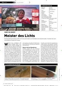Titelbild der Ausgabe 3/2019 von SONY KD-85ZG9: Meister des Lichts. Zeitschriften als Abo oder epaper bei United Kiosk online kaufen.