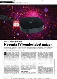 Titelbild der Ausgabe 1/2020 von Telekom om Magenta TV-Stick: IM TEST: MAGENTA TV-STICK: Magenta TV komfortabel nutzen. Zeitschriften als Abo oder epaper bei United Kiosk online kaufen.