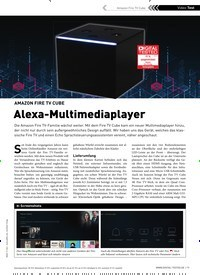 Titelbild der Ausgabe 1/2020 von AMAZON FIRE TV CUBE: Alexa-Multimediaplayer. Zeitschriften als Abo oder epaper bei United Kiosk online kaufen.