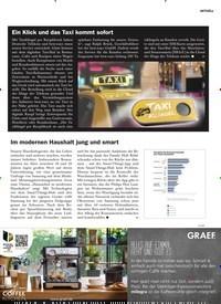 Titelbild der Ausgabe 6/2019 von Ein Klick und das Taxi kommt sofort. Zeitschriften als Abo oder epaper bei United Kiosk online kaufen.