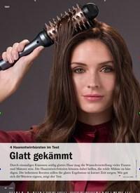 Titelbild der Ausgabe 6/2019 von 4 Haarentwirrbürsten im Test: Glatt gekämmt. Zeitschriften als Abo oder epaper bei United Kiosk online kaufen.