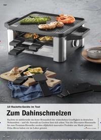 Titelbild der Ausgabe 1/2020 von 10 Raclette-Geräte im Test: Zum Dahinschmelzen. Zeitschriften als Abo oder epaper bei United Kiosk online kaufen.