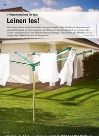 Titelbild der Ausgabe 4/2020 von 7 Wäscheschirme im Test: Leinen los!. Zeitschriften als Abo oder epaper bei United Kiosk online kaufen.