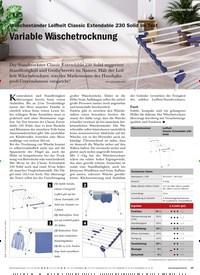 Titelbild der Ausgabe 4/2020 von Wäscheständer Leifheit Classic Extendable 230 Solid im Test: Variable Wäschetrocknung. Zeitschriften als Abo oder epaper bei United Kiosk online kaufen.