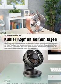 Titelbild der Ausgabe 5/2020 von TEST: 32 Ventilatoren im Test: Kühler Kopf an heißen Tagen. Zeitschriften als Abo oder epaper bei United Kiosk online kaufen.