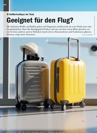 Titelbild der Ausgabe 5/2020 von 9 Koffertrolleys im Test: Geeignet für den Flug?. Zeitschriften als Abo oder epaper bei United Kiosk online kaufen.