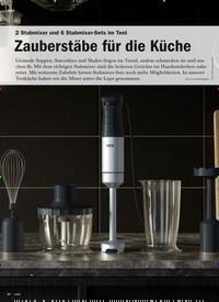 Titelbild der Ausgabe 6/2020 von 2 Stabmixer und 6 Stabmixer-Sets im Test: Zauberstäbe für die Küche. Zeitschriften als Abo oder epaper bei United Kiosk online kaufen.