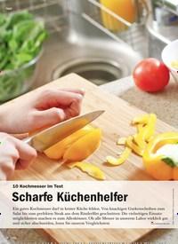 Titelbild der Ausgabe 6/2020 von 10 Kochmesser im Test: Scharfe Küchenhelfer. Zeitschriften als Abo oder epaper bei United Kiosk online kaufen.