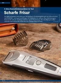 Titelbild der Ausgabe 6/2019 von 6 Akku-Haarschneidemaschinen im Test: Scharfe Frisur. Zeitschriften als Abo oder epaper bei United Kiosk online kaufen.