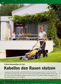 Titelbild der Ausgabe 1/2019 von 9 Akku-Rasenmäher Im Test : Kabellos den Rasen stutzen. Zeitschriften als Abo oder epaper bei United Kiosk online kaufen.
