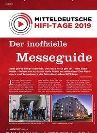 Titelbild der Ausgabe 8/2019 von MITTELDEUTSCHE HIFI-TAGE 2019: Der inoff zielle: Messeguide. Zeitschriften als Abo oder epaper bei United Kiosk online kaufen.