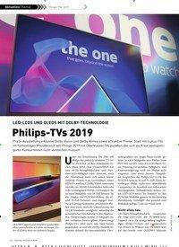 Titelbild der Ausgabe 2/2019 von LED-LCDS UND OLEDS MIT DOLBY-TECHNOLOGIE: Philips-TVs 2019. Zeitschriften als Abo oder epaper bei United Kiosk online kaufen.