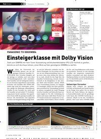 Titelbild der Ausgabe 1/2020 von Panasonic anasonic TX-50GXW804: PANASONIC TX-50GXW804: Einsteigerklasse mit Dolby Vision. Zeitschriften als Abo oder epaper bei United Kiosk online kaufen.
