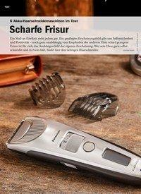 Titelbild der Ausgabe 5/2019 von 6 Akku-Haarschneidemaschinen im Test: Scharfe Frisur. Zeitschriften als Abo oder epaper bei United Kiosk online kaufen.