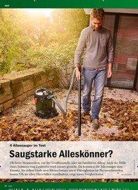 Titelbild der Ausgabe 1/2019 von 4 Allessauger Im Test: Saugstarke Alleskönner?. Zeitschriften als Abo oder epaper bei United Kiosk online kaufen.