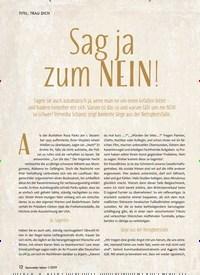 Titelbild der Ausgabe 1/2019 von Sag ja zum NEIN!. Zeitschriften als Abo oder epaper bei United Kiosk online kaufen.
