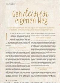 Titelbild der Ausgabe 1/2019 von Geh deinen eigenen Weg. Zeitschriften als Abo oder epaper bei United Kiosk online kaufen.