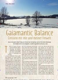 Titelbild der Ausgabe 1/2019 von Gaiamantic Balance: Einssein mit mir und meiner Umwelt. Zeitschriften als Abo oder epaper bei United Kiosk online kaufen.
